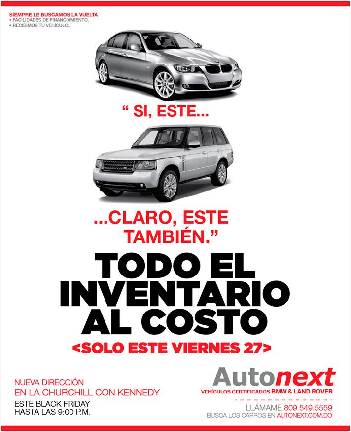 Autonext Solo Este Viernes 27 Todo El Inventario Bmw Y Land Rover Al Costo